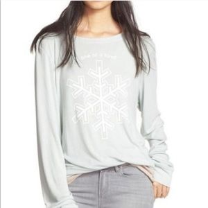 Wildfox | large | snowflake one of a kind top